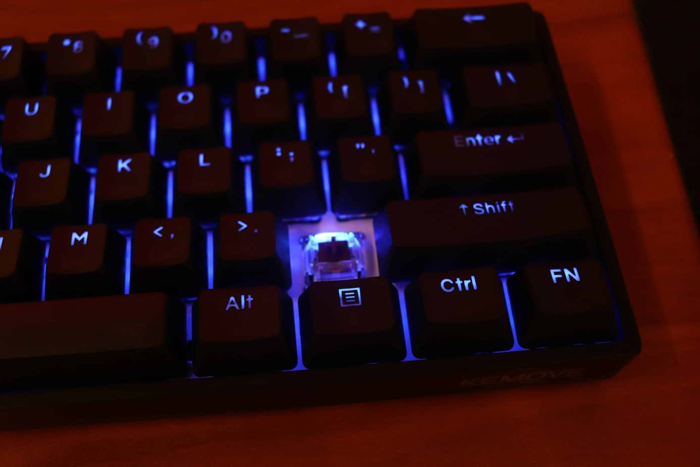 keyboard with one keycap pulled off