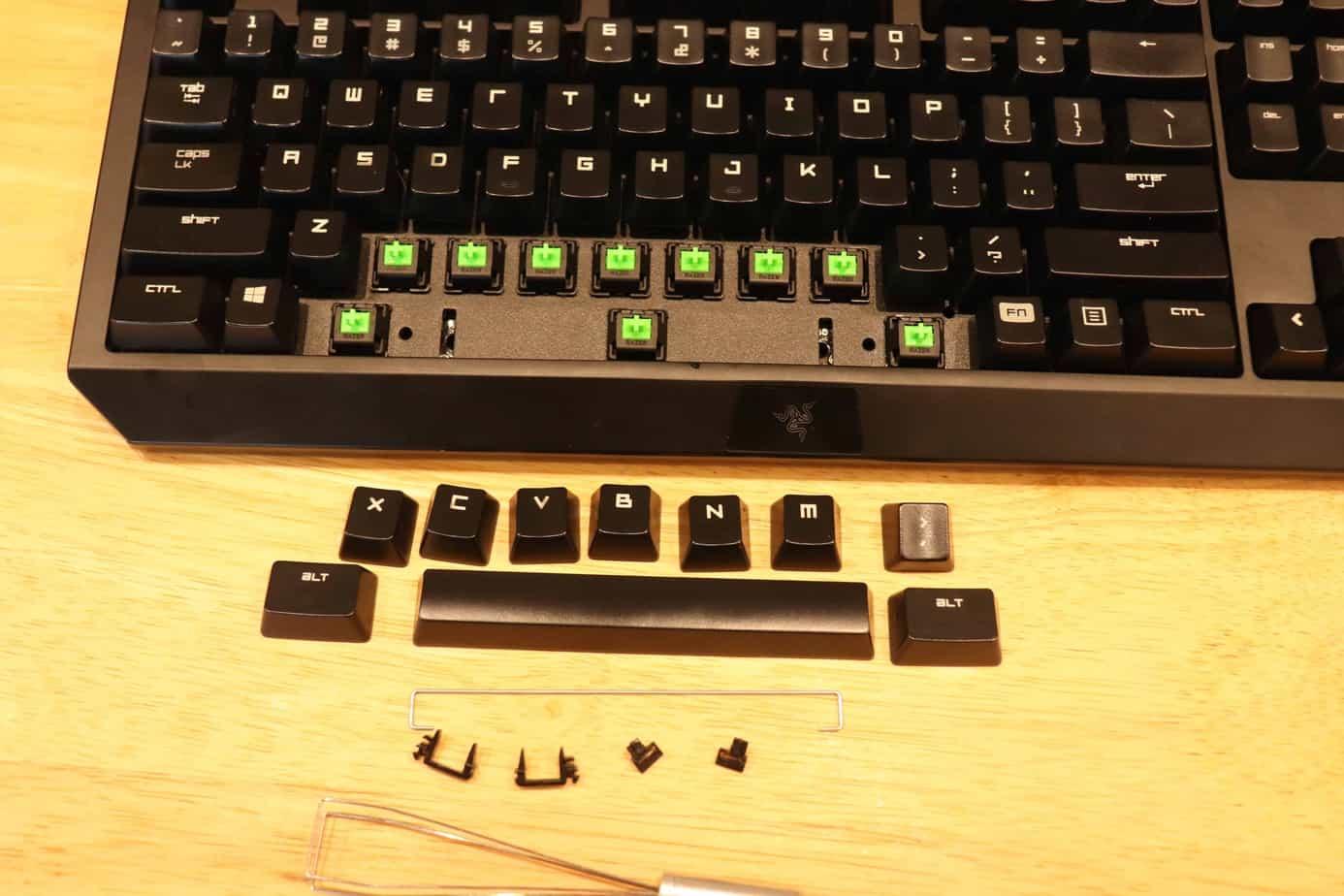keycaps taken off around spacebar