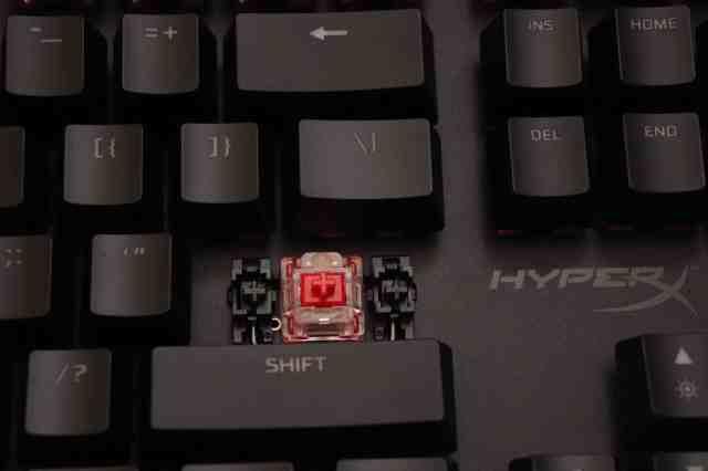 HyperX Red mechanical keyboard switch