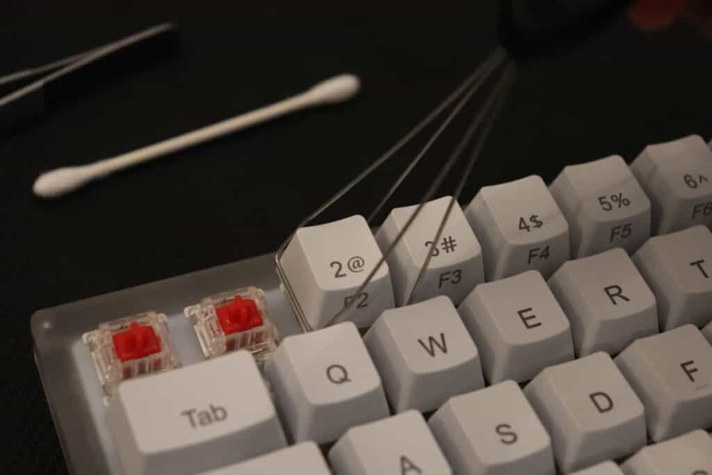 keycaps being removed from keyboard