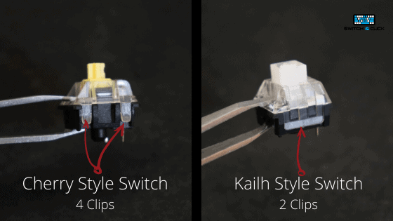 Cherry style and Kailh style switch comparison