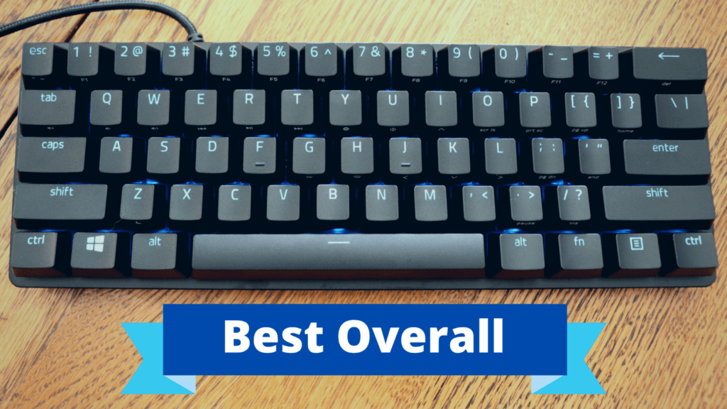 Razer Huntsman Mini mechanical keyboard with best overall banner
