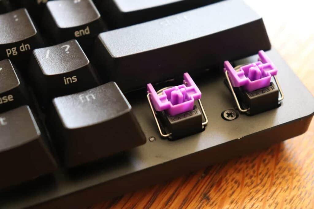 Razer Purple Optical Switch on Razer Huntsman Mini