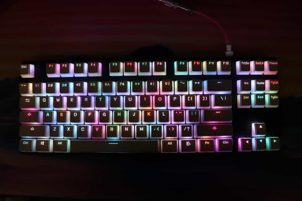 HyperX Pudding Keycaps top view