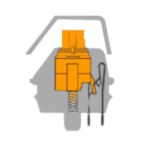 Razer Orange switch inside view.
