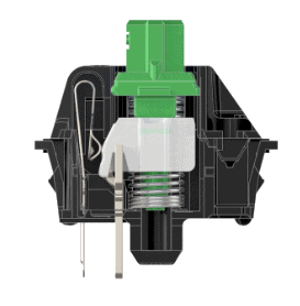 Inside view of a Cherry MX Green switch
