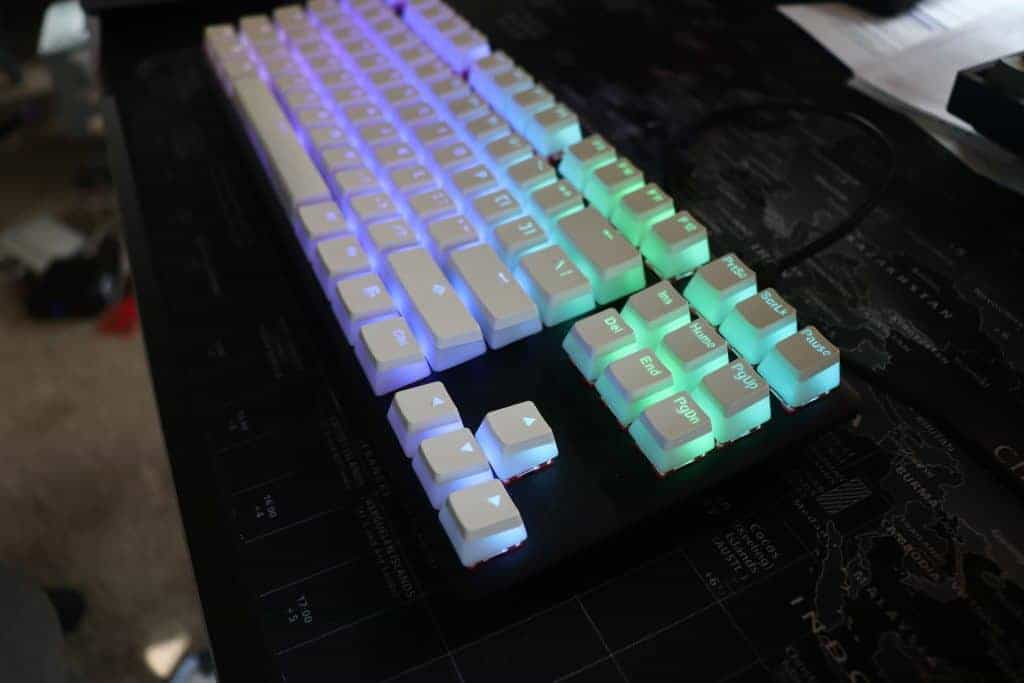 HyperX Pudding Keycaps angled view
