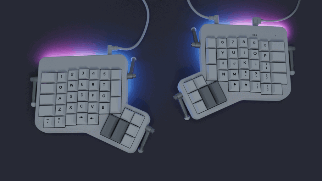 Ergodox EZ split ortholiner keyboard