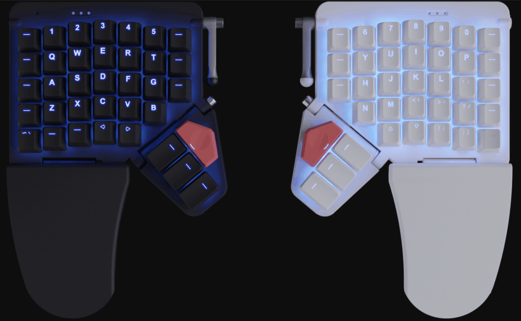Moonlander split ortholinear keyboard