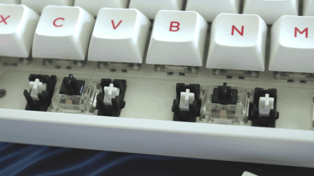 Stabilizers on mechanical keyboard