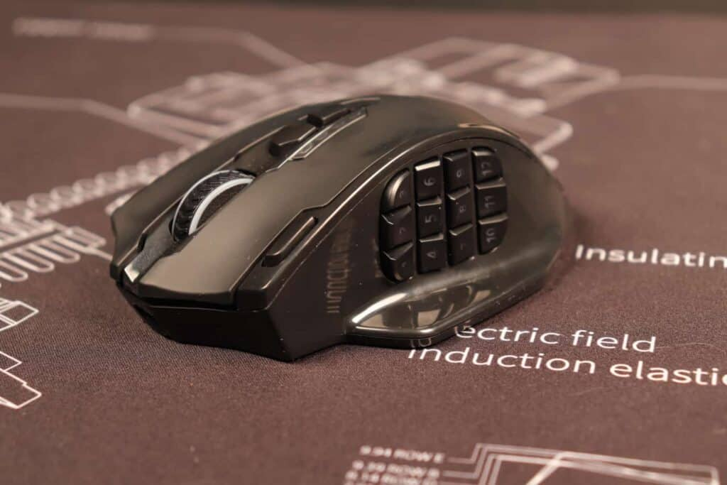 gaming mouse on mousepad