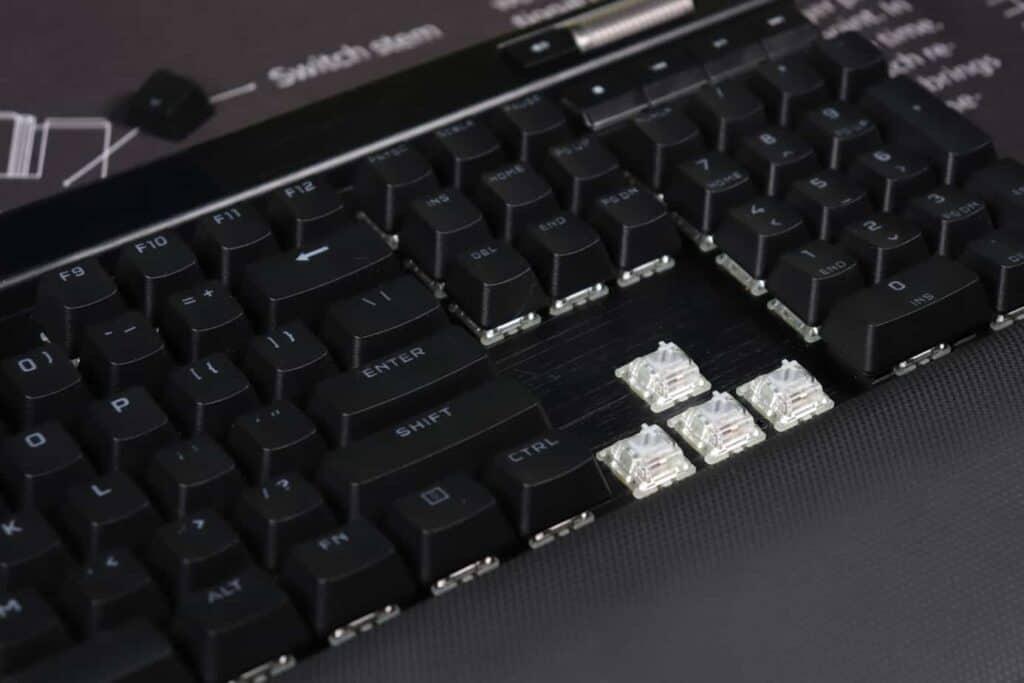 Corsair K100 switches and keycaps