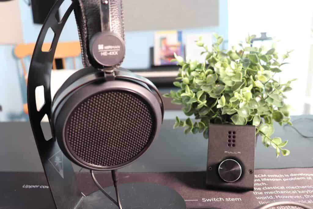 Drop + Hifiman HE4XX headphones side view