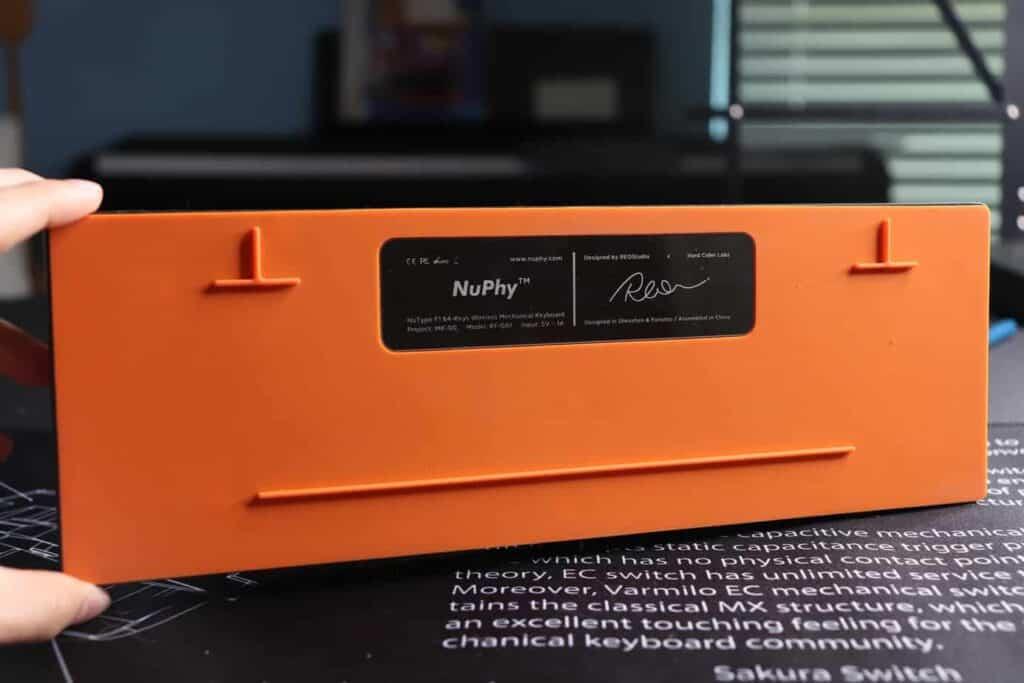 rear case of Nuphy Nutype F1 mechanical keyboard.