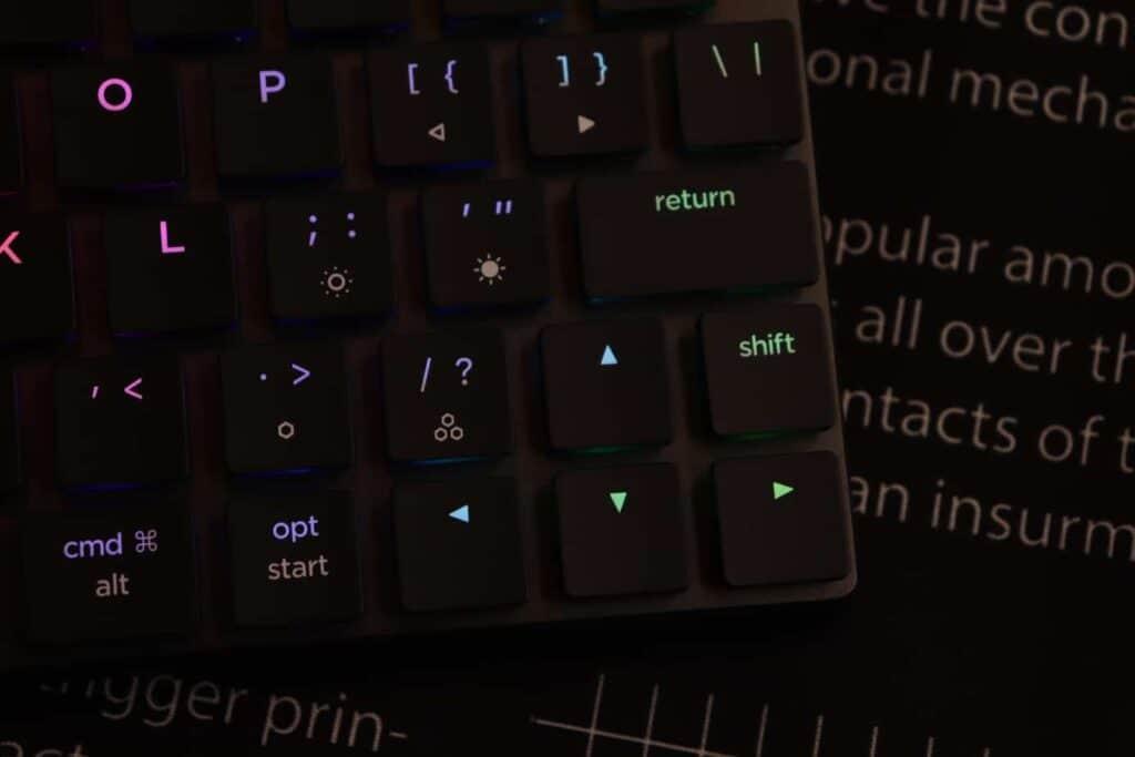 Arrow keys on Nuphy Nutype F1