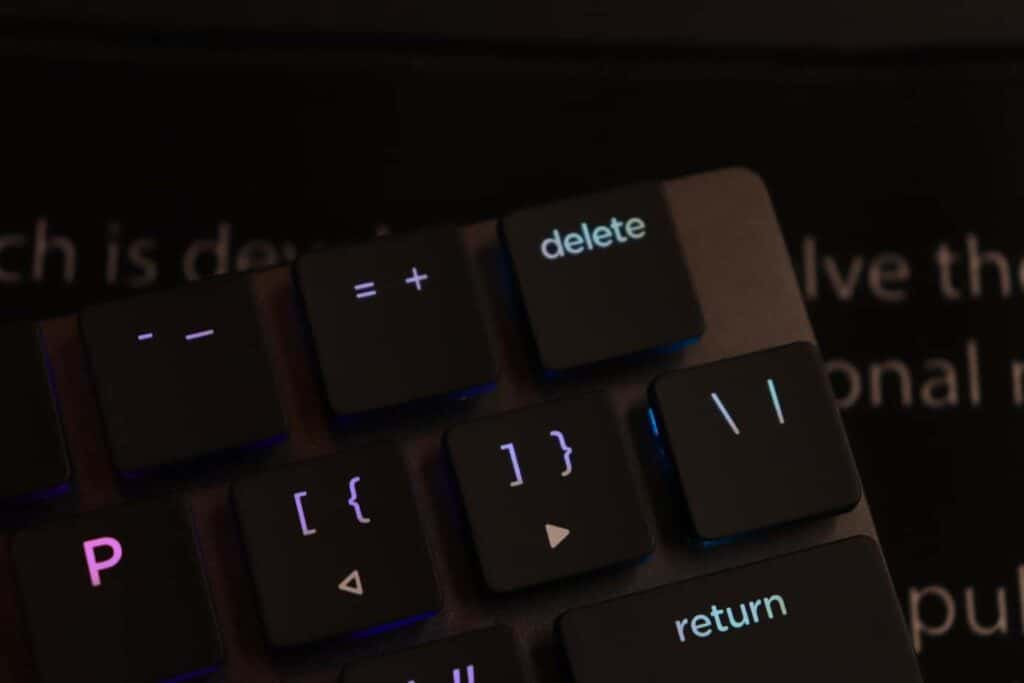 close up the backspace on the Nuphy Nutype F1