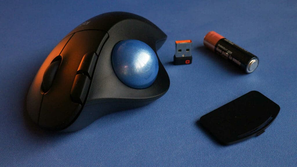 Logitech M575 with battery and wireless adapter