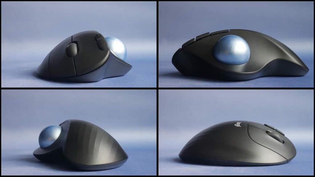 different angles of the Logitech M575