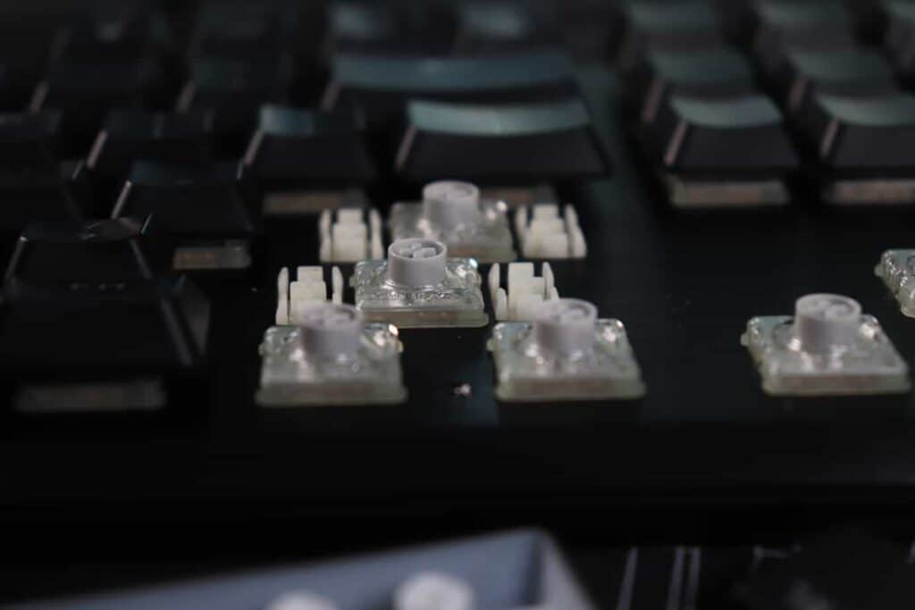 Switches on Corsair K60 Low Profile mechanical keyboard