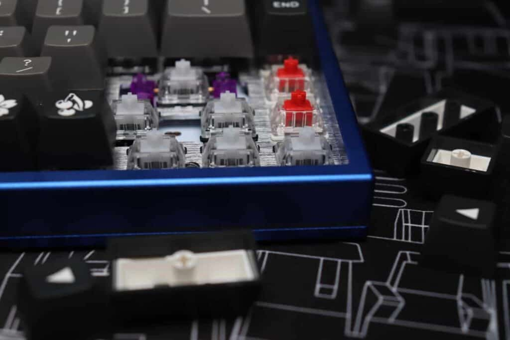 Gateron Clear switches on a mechanical keyboard