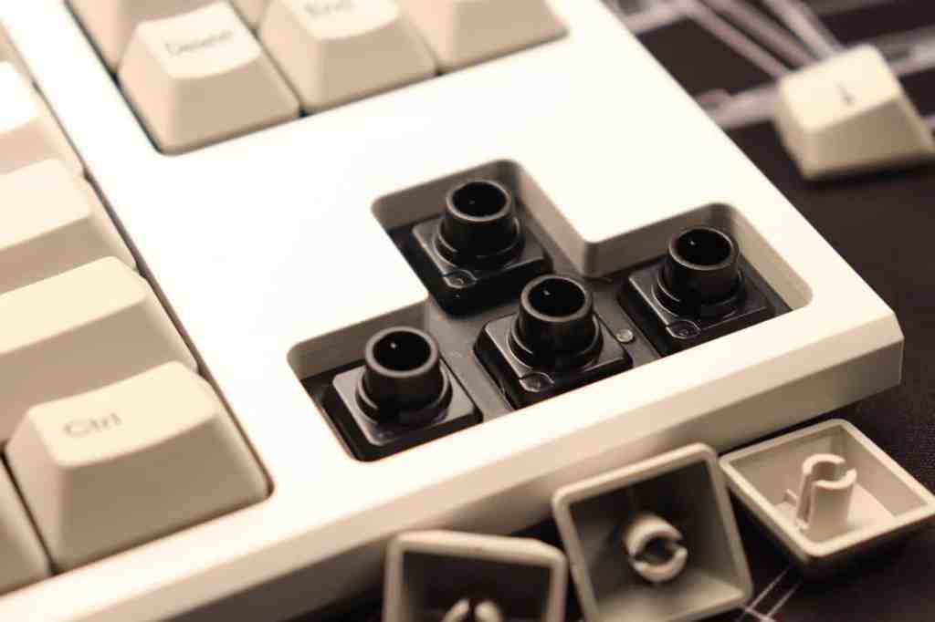 Topre switches on a mechanical keyboard
