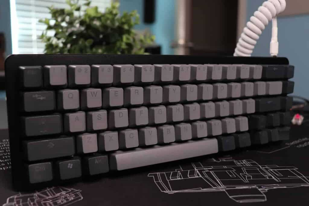 Drop ALT 65% Mechanical Keyboard with a coiled cable