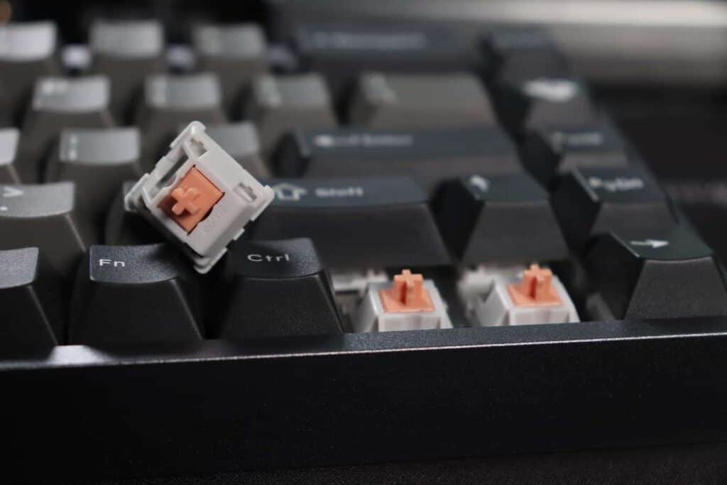 Drop Holy Panda switches on mechanical keyboard