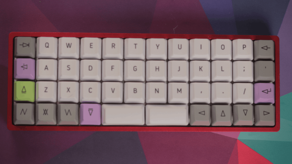 Top view of Ortholinear mechanical keyboard