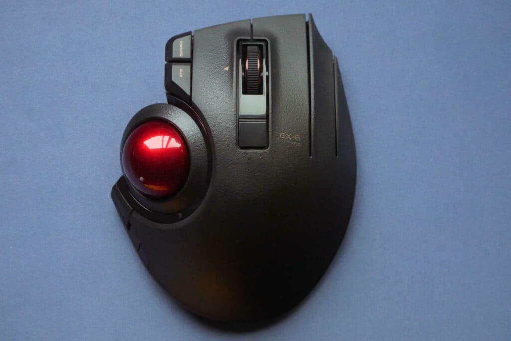 Top view of Elecom Ex-G Pro trackball mouse