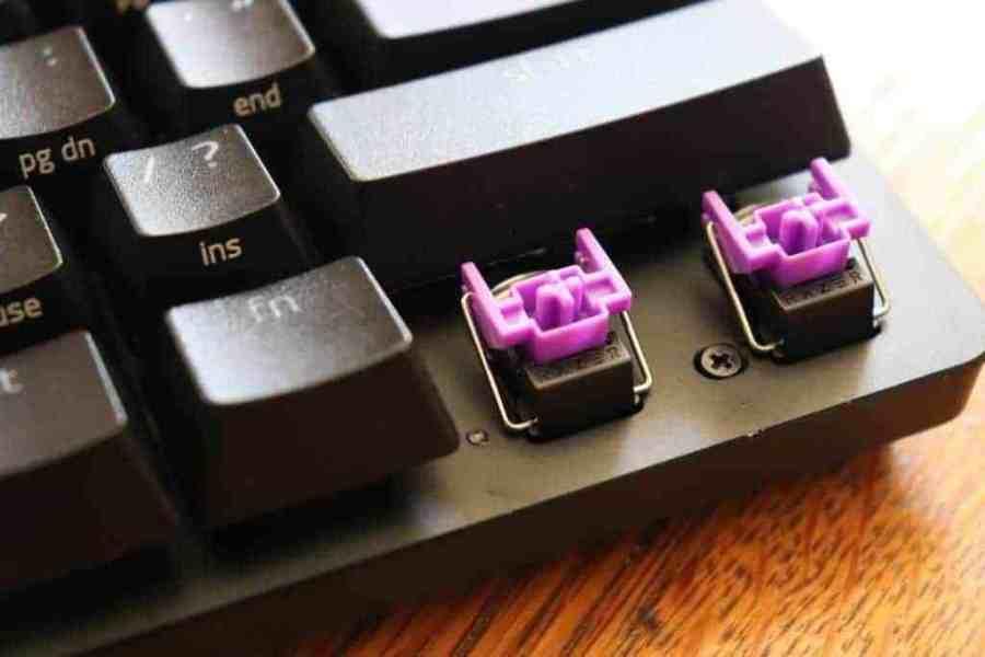 Switches on Razer Huntsman Mini mechanical keyboard