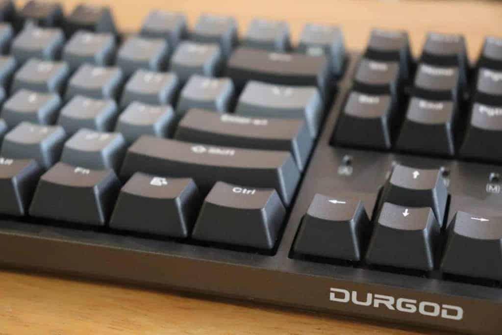 Close up of Durgod Taurus K320 mechanical keyboard