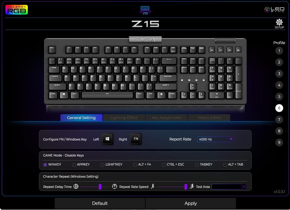 EVGA Z15 Software